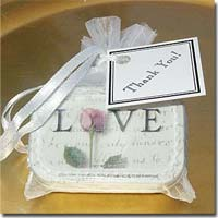 "Personalized ""Love"" Mint Favors with Organza Bag"