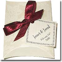 Personalized Buttermint Favors with Satin Ribbon