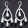 Bohemian Fire-Polished Glass Chandelier Earrings, Sterling Silver - Medium. In your choice of colors.