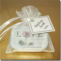 "DIY Personalized ""Love"" Mint Favors with Organza Bag and Decorative Embellishment"