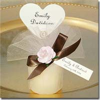 DIY Personalized Votive Candle Favors Customized with Your Choice of Font, Tag, Ribbon, Tulle, and Embellishments